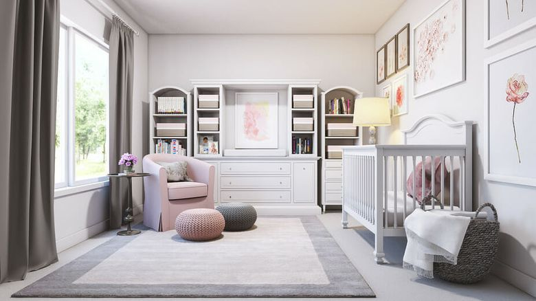 contemporary-nursery-interior-design-with-gray-and-pink-accents